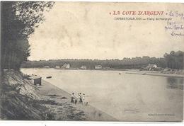 """"""" LA COTE D'ARGENT """" CAPBRETON-PLAGE """" ETANG DE HOSSEGOR + ANIMATION . AFFR AU VERSO LE 15-8-1908 . 2 SCANES - Capbreton"""