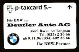 SCHWEIZ Telefonkarte - BMW -Beutler Auto AG- 604L... - Siehe Scan - 10667 - Svizzera