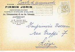 Postkaart Publicitaire 1960 AARSCHOT- FIRMIN JORIS - Kerkorgelmaker - Facteur D'orgues D'Eglises - Pianos -Harmoniums - Aarschot