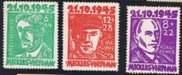 21.Okt. 1945 Opfer De Faschismus Michel 21 - 22 Mit Gummierung Und Falz X - Sowjetische Zone (SBZ)