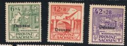 1948 Dessau Spendenmarken Ohne Frankaturwert Michel I - III Postfrisch Xx - Deutschland