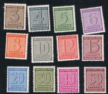 9. Nov. 1945 Freimarken Kompletter Satz Michel 126 - 137 Postfrisch Xx - Sowjetische Zone (SBZ)