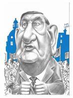 Illustrateur Bernard Veyri Caricature La Grande Manif Louis Viannet CGT Syndicalisme - Veyri, Bernard