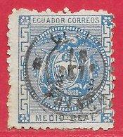 Equateur N°5 0,5r Bleu 1872 O - Equateur