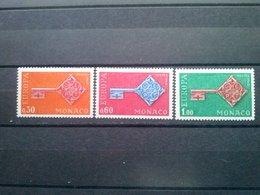 MONACO   1968   EUROPA CEPT    SET 3 Stamps  MNH** - 1968