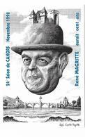 Illustrateur Bernard Veyri Caricature Salon De Cahors Rene Magritte - Veyri, Bernard