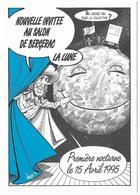 Illustrateur Bernard Veyri Caricature Sla Lune Nouvelle Invitee Au Salon De Bergerac - Veyri, Bernard