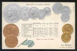 *La Gréce. Monnaies Et Pavillon National* Ed. H.S.M. Nº 218054. Nueva. - Grecia