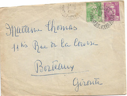 CACHET DISTRIBUTION SIRADAN HAUTES PYRENEES B6 1948 - Marcophilie (Lettres)