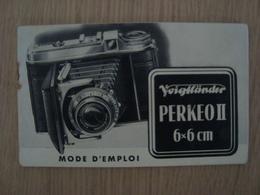 MODE D'EMPLOI PERKEO II 6x6 Cm - Cameras