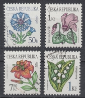 Czech Republic Czechia - FLOWER Lot - Cornflower Cyclamen Lilies Lily Of The Valley - Used - Fantasy Labels