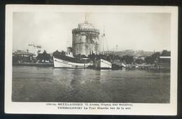 Thessaloniki. *La Tour Blanche Vue De La Mer* Escrita. - Grecia