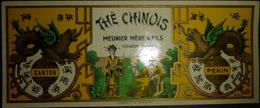 38 VOIRON CHINE CHINA THE CHINOIS MEUNIER PUBLICITE CHROMOLITHOGRAPHIEE  18 X 7 CM - Publicités