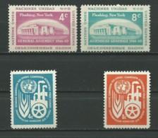 NATIONS UNIES (NEW-YORK): **, N°YT 66 Et 67 + 68 Et 69, TB - New York -  VN Hauptquartier