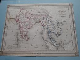 Hindoustan OU INDE En Deça Du Gange Et Inde Transgangétique Par V. Levasseur ( See Description / Beschrijving ) ! - Cartes