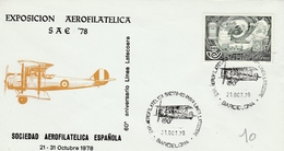 Barcelona 1978 - Expo Aerofilatelica - Avion Biplan Flugzeug Airplane - 1931-Aujourd'hui: II. République - ....Juan Carlos I