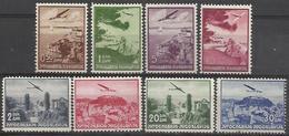 YU 1937-340-7 AIRPLANE, YUGOSLAVIA, 1 X 8v, NO GUM - 1931-1941 Königreich Jugoslawien