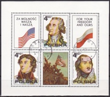 Poland/1965 - American Revolution/Rewolucja Amerykańska - Mini Sheet - USED - Blocks & Kleinbögen