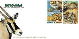 Botswana - 2001 Kgalagadi Transfrontier Park FDC # SG 944-947 - Emissioni Congiunte