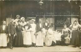 75 - PARIS - Belle Carte Photo Du Restaurant Chartier En 1907 - Postée Du Bd St Germain - Cafés, Hôtels, Restaurants