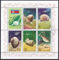 D.P.R.K/1977 - Shellfish And Fish - Set Mini Sheet - CTO - Korea (Nord-)