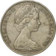Monnaie, Australie, Elizabeth II, 20 Cents, 1976, Melbourne, TB, Copper-nickel - 1855-1910 Monnaie De Commerce