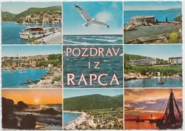 POZDRAV IZ RAPCA, Croatia, Multi View,1972 Used Postcard [22001] - Croatia