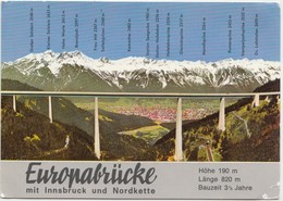EUROPABRUCKE, With Innsbruck And Nordkette, Austria, Used Postcard [22005] - Austria