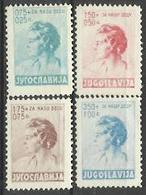 YU 1936-322-5 CHILDREN'S AID, YUGOSLAVIA, 1 X 4v, MH - 1931-1941 Königreich Jugoslawien