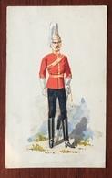 Aquarelle Et Gouache Sur Format CDV Circa 1870. Horse Guards. F. Coram, Sloane Street, London. - Uniforms