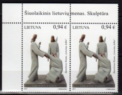2017 Lithuania - Contemporary Lithuanian Art Sculpture Wake Up Lazarus Top Corner 2v  MNH** (gg17) MiNr. 1255 - Lithuania