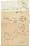 LOT DE 3 ENVELOPPES POSTE AUX ARMEES WW2 / 1940 / LOT 3 - Postmark Collection (Covers)