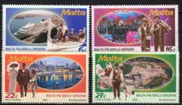 MALTA - 2000 - MALTA NEL XX SECOLO: IMBARCAZIONI, MUSICISTI, PASSEGGIATA DOMENICALE, CONTADINI  - MNH - Malta