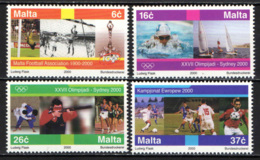 MALTA - 2000 - OLIMPIADI DI SYDNEY E CAMPIONATO EUROPEO DI CALCIO - MNH - Malta
