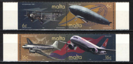 MALTA - 2000 - CENTENARIO DEL TRASPOSRTO AEREO - MNH - Malta