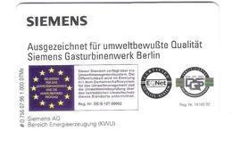 Germany - O 756 07.96 Siemens Gasturbinenwerk Berlin 1.000 Ex. - Voll - Deutschland
