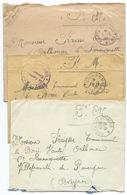 LOT DE 3 ENVELOPPES POSTE AUX ARMEES WW2 / 1940 / LOT 6 - Postmark Collection (Covers)