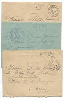 LOT DE 3 ENVELOPPES POSTE AUX ARMEES WW2 / 1940 / LOT 8 - Postmark Collection (Covers)