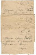 LOT DE 3 ENVELOPPES POSTE AUX ARMEES WW2 / 1940 / LOT 10 - Postmark Collection (Covers)