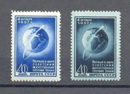 STAMP USSR RUSSIA MINT (**) Set 1957 Y. MICHEL  # 2017; 2036 Space Sputnik - Unused Stamps
