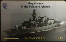 Paco \ ISOLE FALKLAND \ 59CFKC (Ø) \ Royal Navy - HMS Iron Duke \ Usata - Falkland Islands