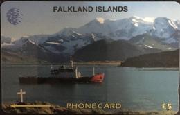 Paco \ ISOLE FALKLAND \ 5CWFA \ The British Antartic Survey's RRS Bransfield \ Usata - Falkland Islands