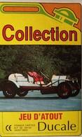 Jeu D'Atout Ducale Voiture De COLLECTION Automobile Peugeot Fiat Bugatti Panhard Citroën Renault Bentley Fiat Saab - Autres Collections