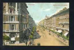 Budapest. *Boulevard Andrassy* Dorso Con Publicidad. Escrita. - Hungría