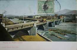 O) 1901 PERU, ADMIRAL MIGUEL L. GRAU SCT 161 1c Green -CONMEMORATIVA DEL SIGLO XX, STONE BRIDGE-RIMAC RIVER, POSTAL CAR - Peru