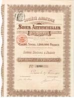 Ancienne Action - Soies Artificielles De La Loire - Titre De 1905 N°1945 - Industrie