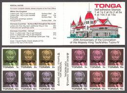 Tonga 1988 Mi# 997-1000+ 1010** DEFINITIVES, KING TAUFA'AHAU IV - Tonga (1970-...)