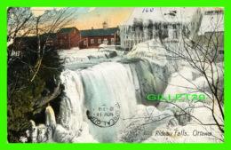 OTTAWA, ONTARIO - RIDEAU FALLS IN WINTER - TRAVEL IN 1909 - EUROPEAN POST CARD CO - - Ottawa