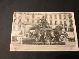 7 - LYON Fontaine Bartholdi (Place Des Terreaux) - 1904 Timbrée - Lyon 1