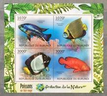 Burundi 2012; Marine Fauna. Poisoned Fishes; MNH** High Value!! - Burundi